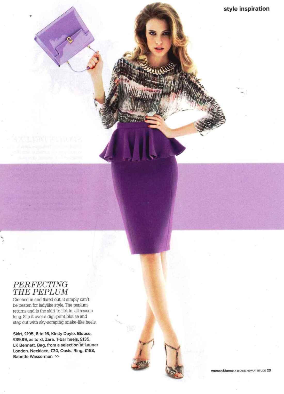 Tallulah Peplum skirt featured in Woman & Home.
